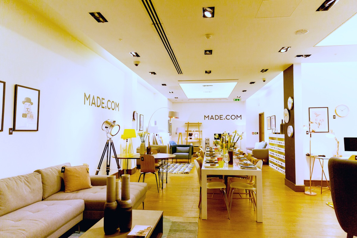 made.com, interior design, showroom, scandinavian interiors