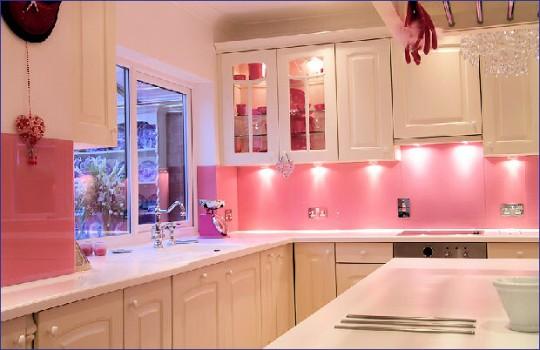 ideias de design Decoração de Cozinha Cor de Rosa