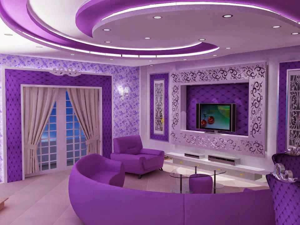 Fantastic Interior Purpul Colour Designs Home Decor