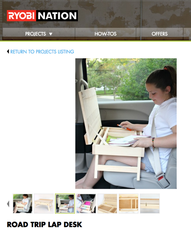 diy road trip lap desk at ryobi nation
