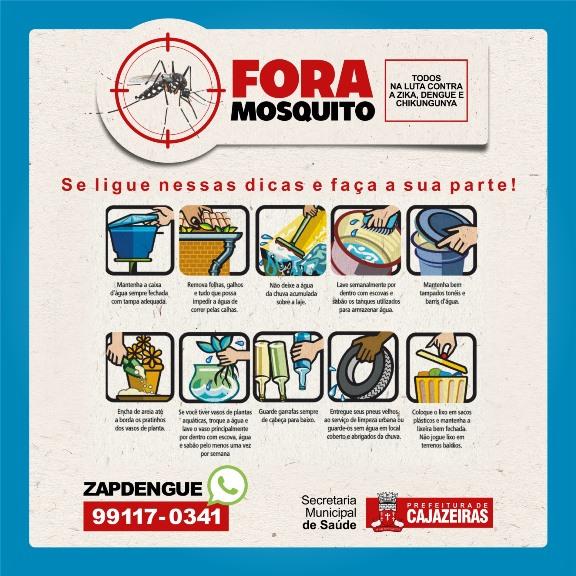 Prefeitura Municipal de Cajazeiras inicia neste sábado (04) campanha de combate ao mosquito transmissor da dengue