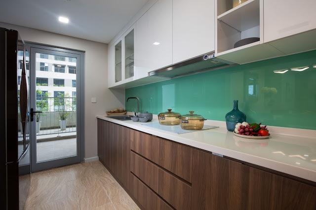 phòng bếp căn mẫu chung cư DLC Complex Nguyễn Tuân