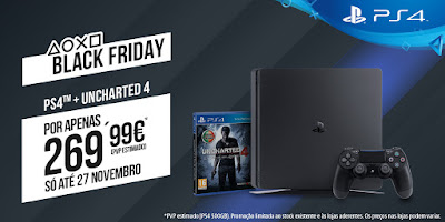 Foto PlayStation 4 Slim a €269.99 para a Black Friday