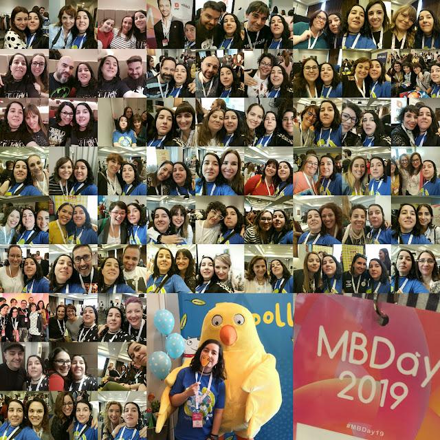 63 selfies con bloggeros y un selfie con el pollo pepe y una foto al cartel del Mbday 2019