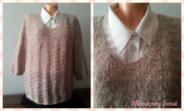 ażurowy sweterek