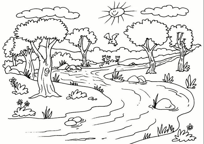 Paisajes Naturales Con Animales Y Plantas Y Agua Para