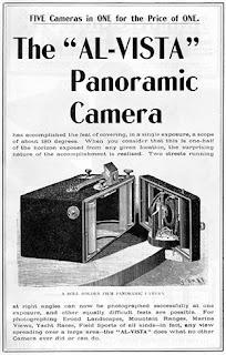 Brochure publicitaire du début du XXe siècle de l'appareil panoramique Al-Vista