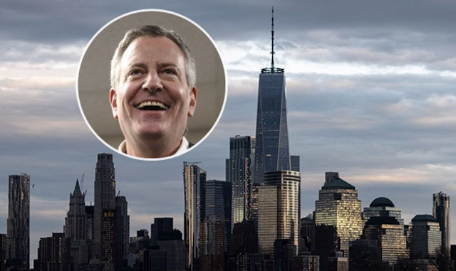 Bill de Blasio: NYC 'to Ban Glass & Steel Skyscrapers' for Green New Deal