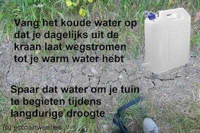 Water besparen bij langdurige droogte, water sparen voor je tuin, drinkwater, leidingwater