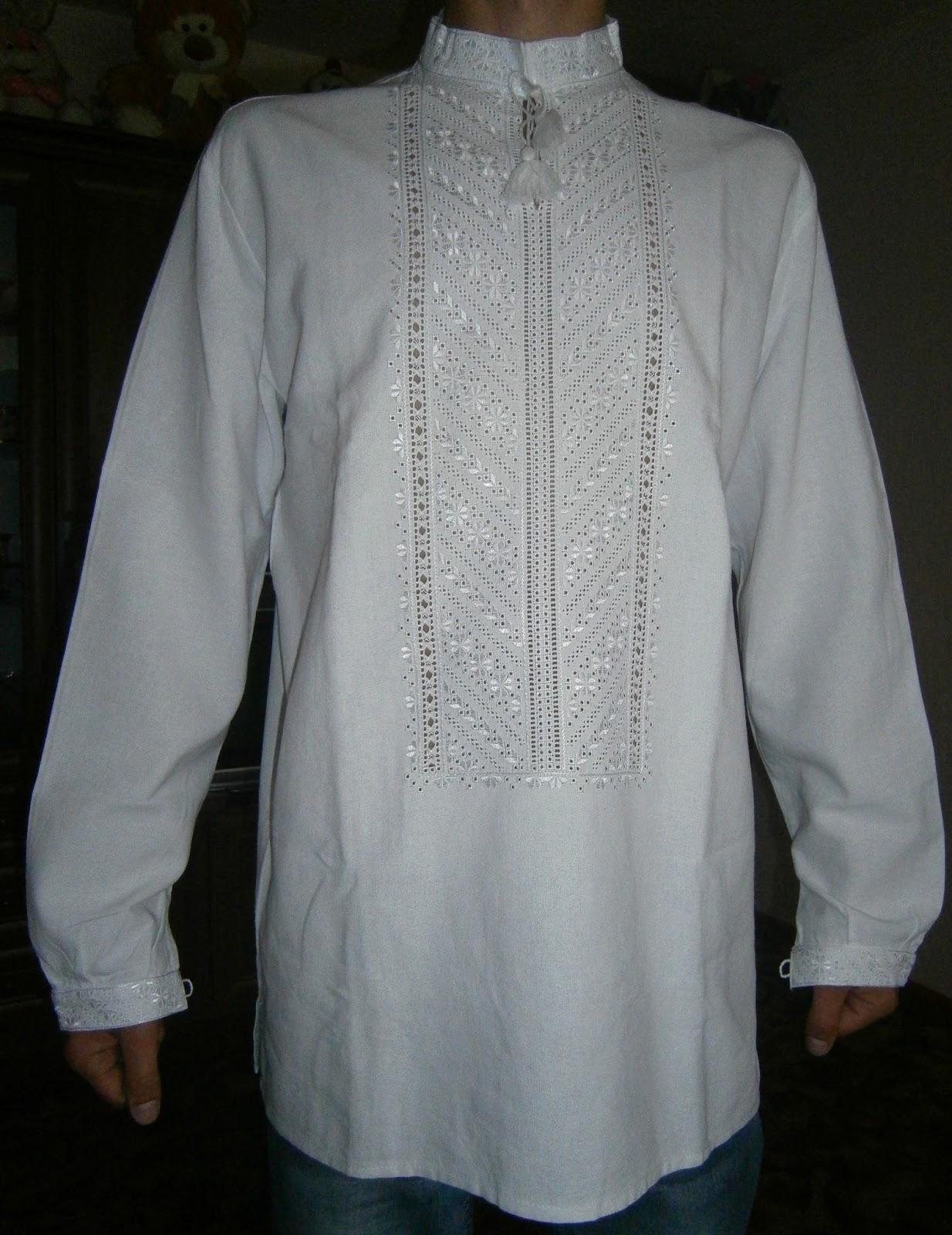 Вишиванка чоловіча білим по білому на домотканому полотні a8e1d72898eab