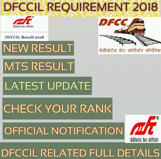 Dfccil mts result 2019, dfccil mts pet date