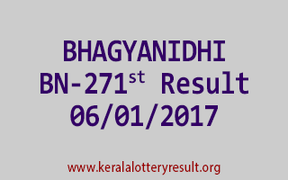 BHAGYANIDHI BN 271 Lottery Results 6-1-2017