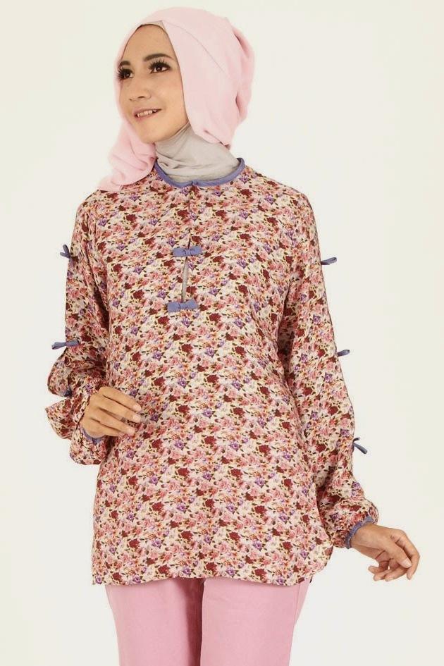 10 Contoh Baju Muslim Batik Wanita Modern - Busana Indonesia
