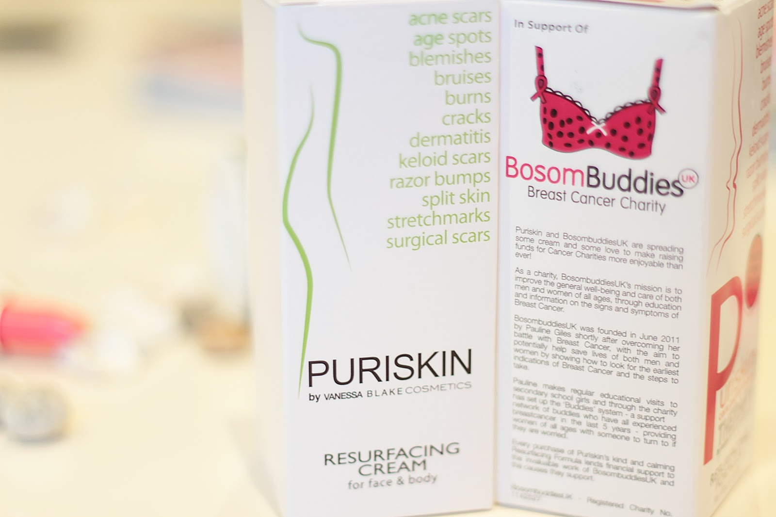 puriskin resurfacing cream face body breast cancer awareness month product