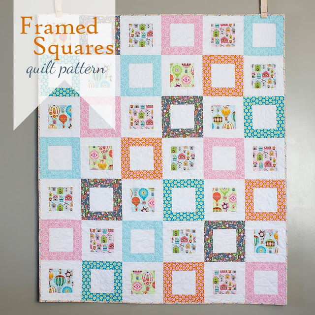 Framed Squares free quilt pattern A Bright Corner