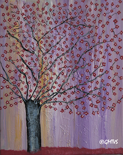 Acrylic Painting Black Cherry Tree