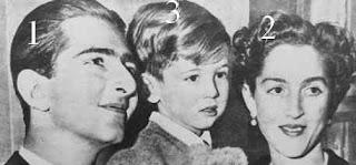 le dernier roi de Yougoslavie avec son épouse et leur fils