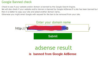 Cek Banned Google Adsense