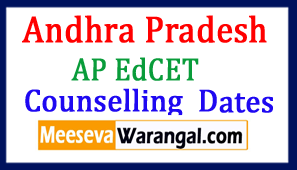 AP Ed.CET Counselling Notification 2017