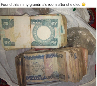 Lol... See what a Nigerian guy found in his grandmother's room after she died (Photos)