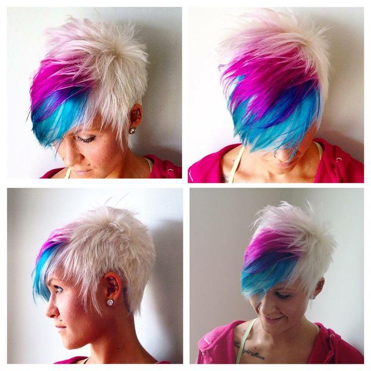 Colorful Short Haircuts The Haircut Web