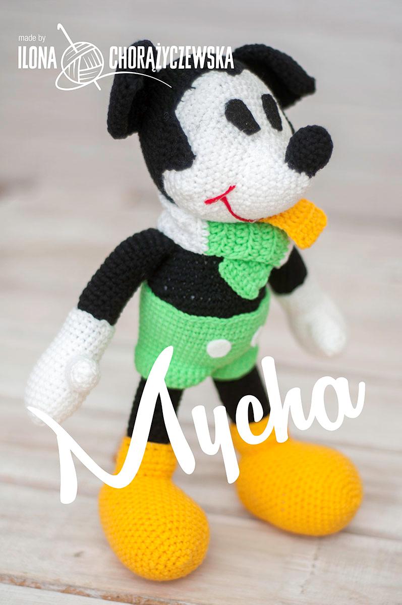 Szydełkowa Myszka Mickey