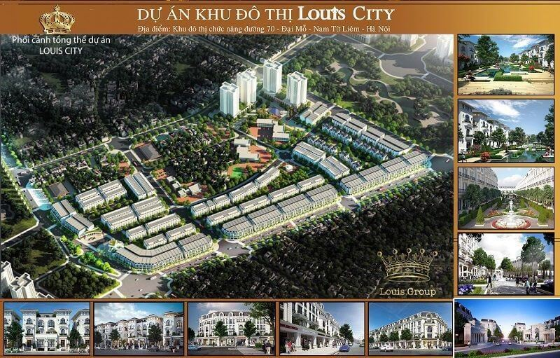 Tổng thể dự án biệt thự, liền kề Louis City.