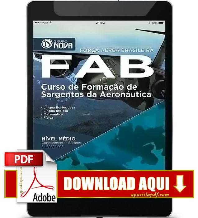 Apostila FAB 2016 Sargento da Aeronáutica PDF Download