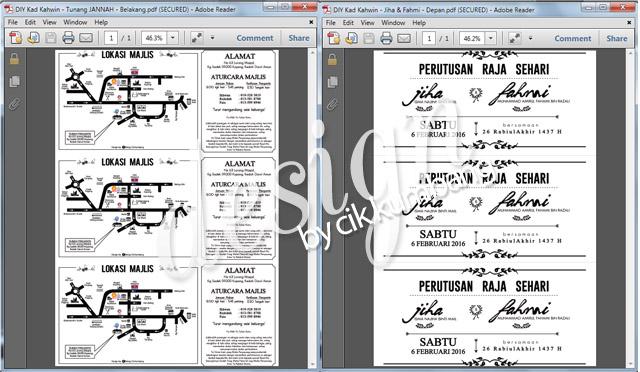 Printable Template DIY Kad Kahwin