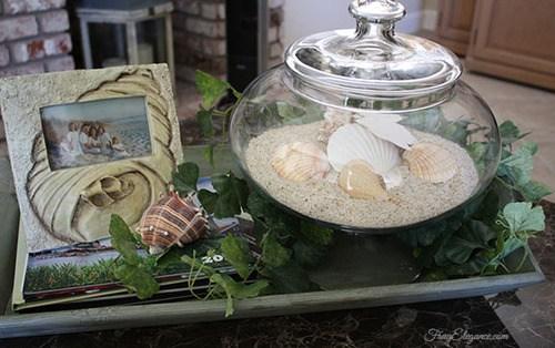 seashell vignette coastal charm