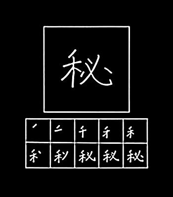 kanji to hide, keep to oneself