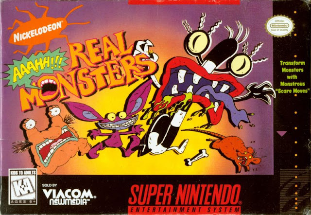 Aaahh !!! Real Monsters - SNES - Portada