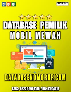 Jual Database Nasabah Nasabah Pemilik Mobil