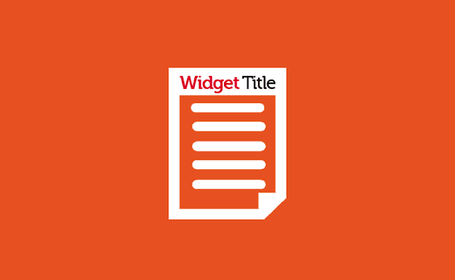 Merubah Warna Kata Pertama Pada Title Widget