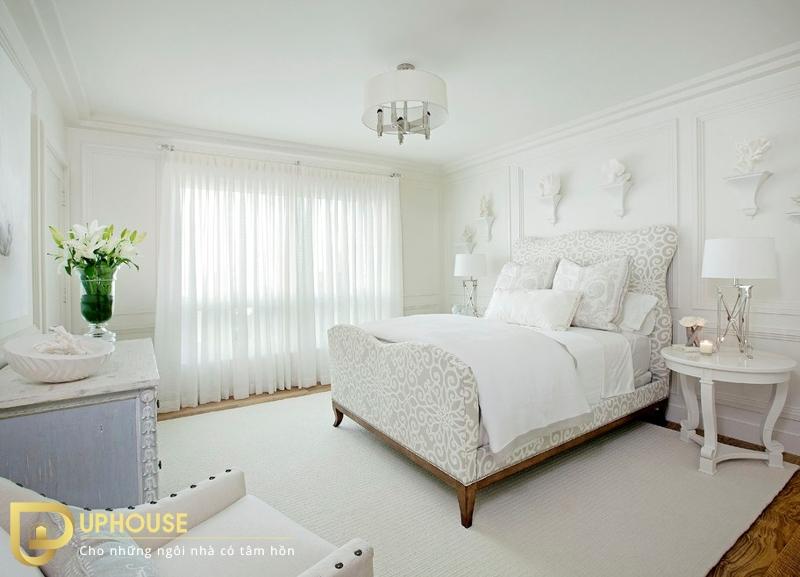 Nội thất phòng ngủ màu trắng 04
