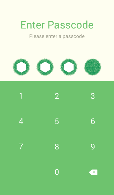 Crayon Green 1 / Circle