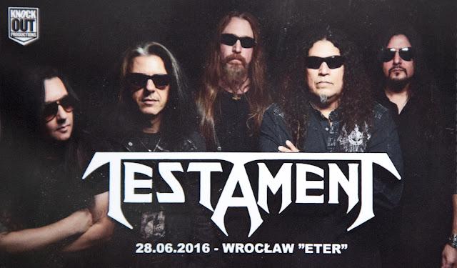 Testament Wrocław relacja z koncertu