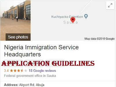 2018 Nigeria Immigration Service Recruitment | Application Portal And Guidelines