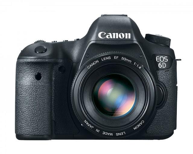 Fotografia della reflex full frame Canon EOS 6D con l'ottica 50mm F/1.4