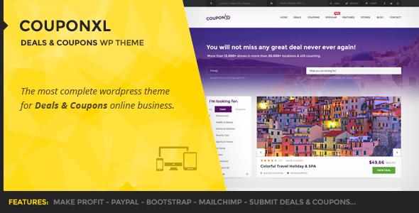 CouponXL - Coupons, Deals & Discounts WP Theme Free Download