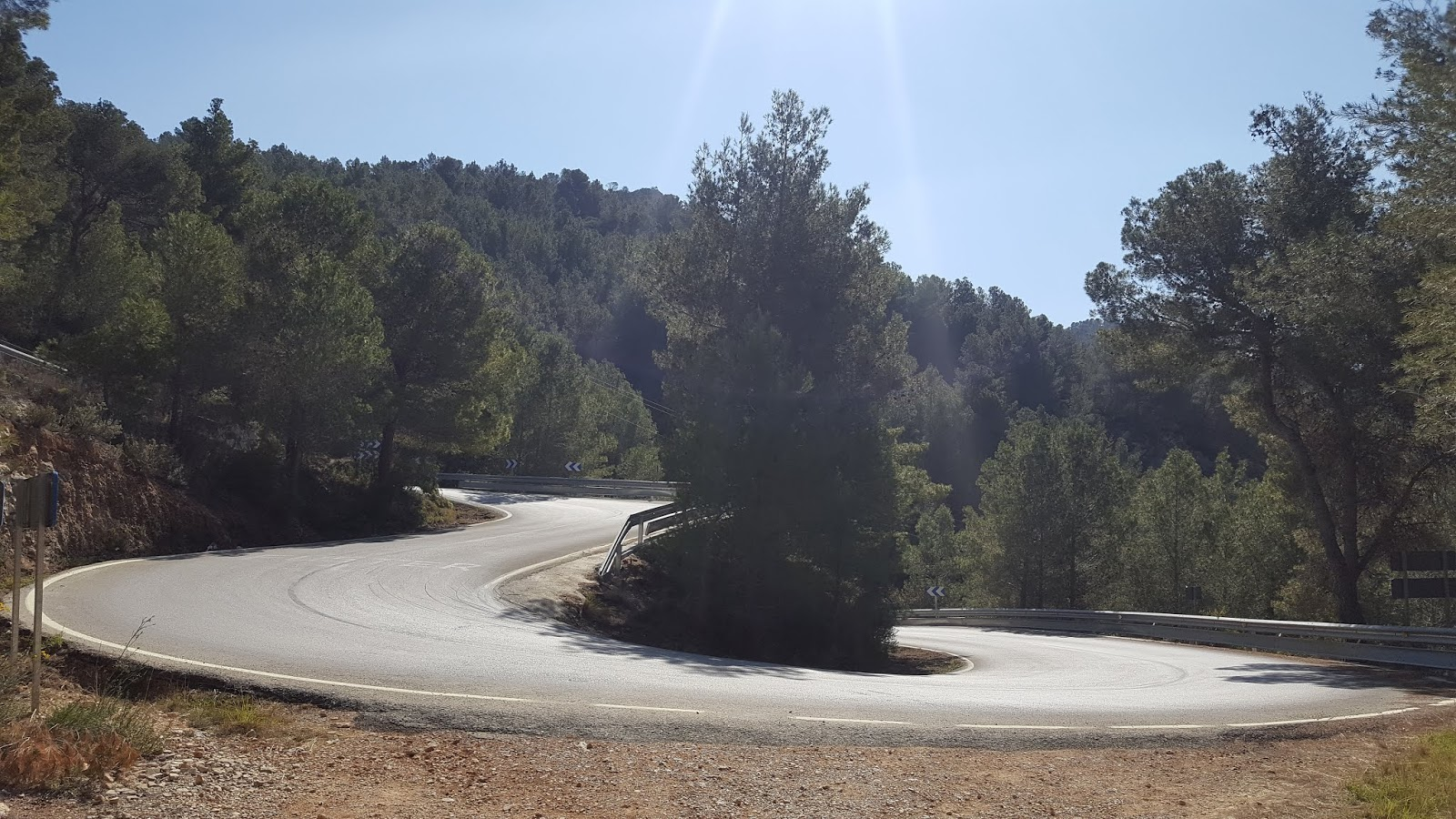 Switchbacks on the climb of Coll de Rates from Callosa d'en Sarrià