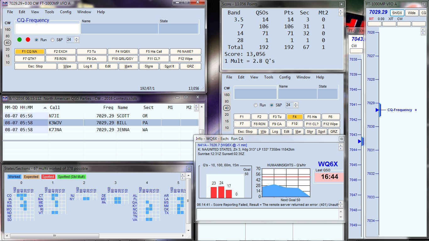 WQ6X Contest Activities: WQ6X Joins SCCC Team #1 for NAQP CW