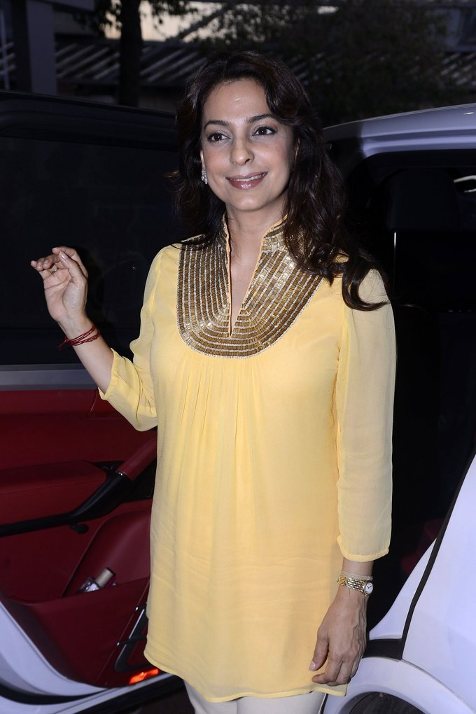 Mumbai Actress Juhi Chawla At Priyadarshni Academy Awards In Yellow Dress