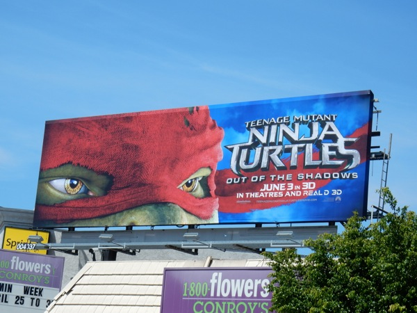Teenage Mutant Ninja Turtles Out Shadows Raphael mask billboard