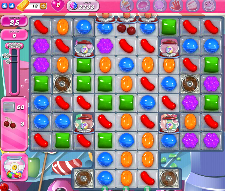 Candy Crush Saga level 2233