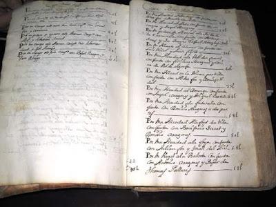 Libro de las Aziendas de los vezinos y terratenientes de la villa de Fórnoles hecho este año 1738 , primera página