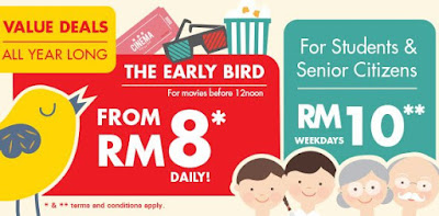 TGV Cinema Movie Ticket Value Deals RM8 Early Bird