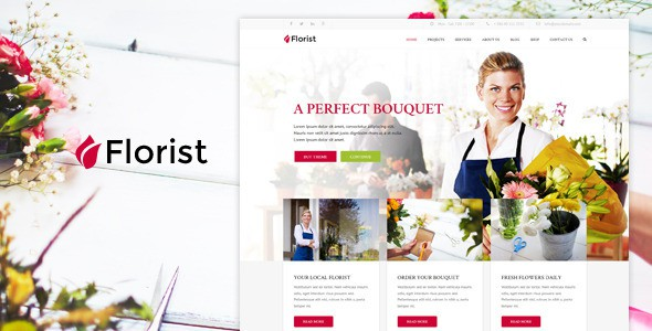 Best Flower Shop Website Theme
