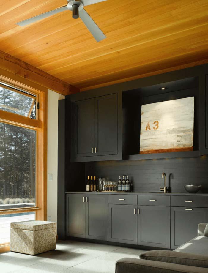 mat siyah mutfak dolabı modelleri