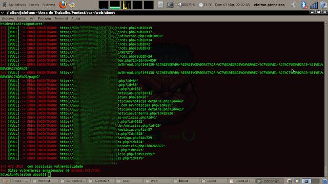 LF DORK SCANNER 1.0 - Motor de busca: UOL - personalizada do google, feito em perl